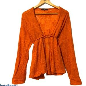 FA Concept Paris Lace Belted Sweater size 6